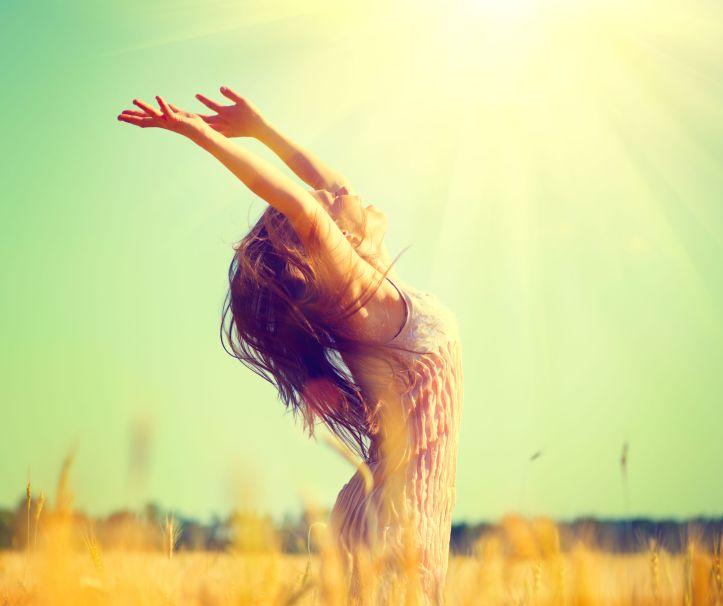 42527333 - beauty girl outdoors enjoying nature on wheat field