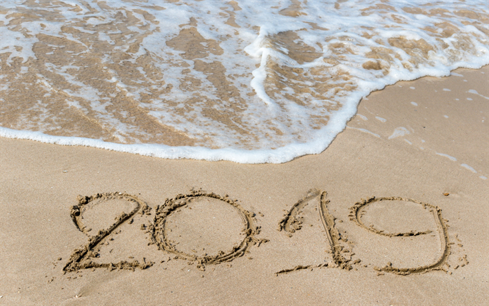 thumb2-2019-year-beach-digits-in-the-sand-sea-surf-waves